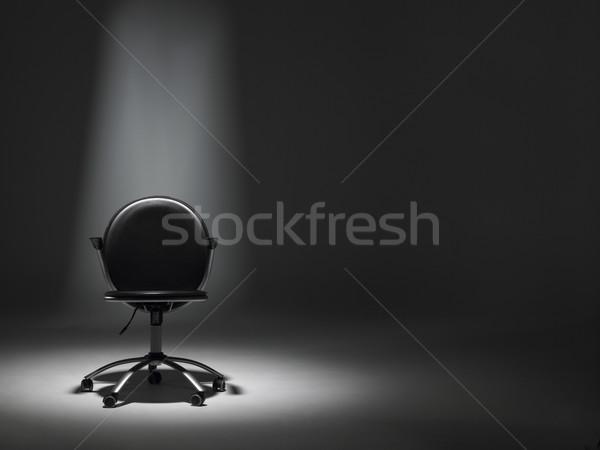 Zdjęcia stock: Pusty · krzesło · biurowe · Spotlight