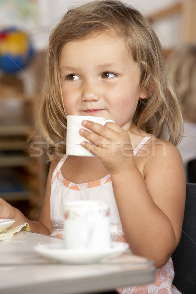 Young Boy Having Tea at Montessori/Pre-School Stock photo © monkey_business