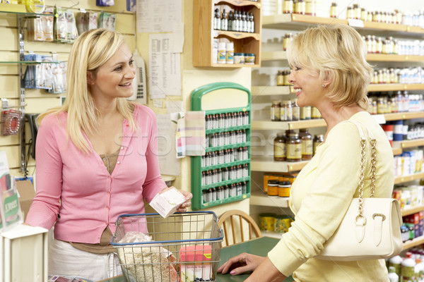 Female sales assistant in health food store Stock photo © monkey_business