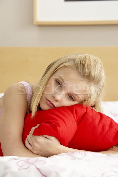 Triste quarto travesseiro cara Foto stock © monkey_business