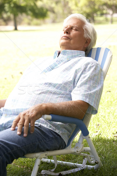 Senior Man Relaxing In Park Stock photo © monkey_business