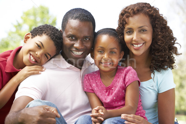 Famille jour parc enfants homme Photo stock © monkey_business