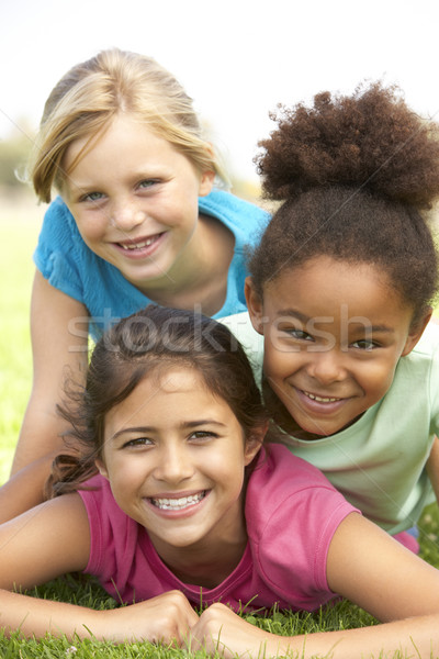 Young Girls In Playing In Park Stock photo © monkey_business