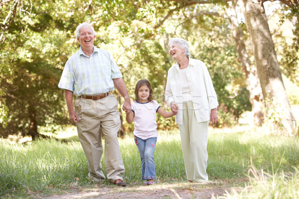 Grandparents In Park With Granddaughter Stock photo © monkey_business