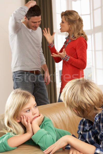Parents Having Argument At Home In Front Of Children Stock photo © monkey_business
