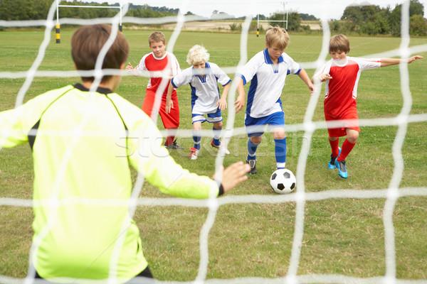 Spieler bereit Punktzahl Ziel Seite Fußball Stock foto © monkey_business