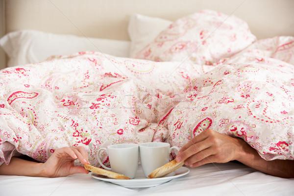 пары рук завтрак женщины пару мужчин Сток-фото © monkey_business