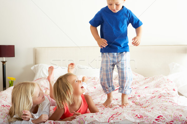 Children Bouncing On Bed Stock photo © monkey_business