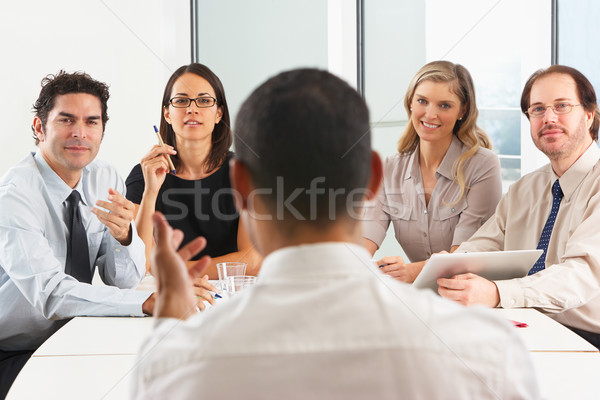 View From Behind As CEO Addresses Meeting In Boardroom Stock photo © monkey_business