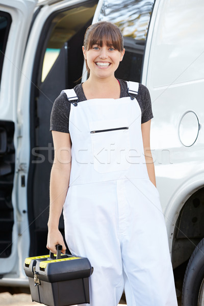 Portrait Of Female Repair Person With Van Stock photo © monkey_business