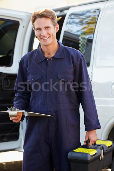 Portrait Of Repairman With Van Stock photo © monkey_business