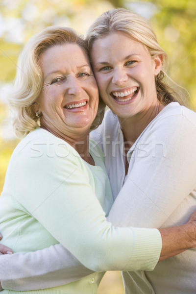 Mère augmenté up fille famille Photo stock © monkey_business