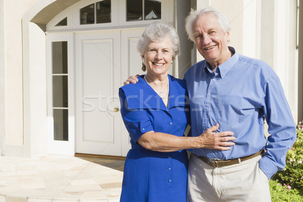Senior couple outside house Stock photo © monkey_business