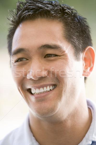 Foto stock: Cabeza · tiro · hombre · sonriendo · cara · retrato
