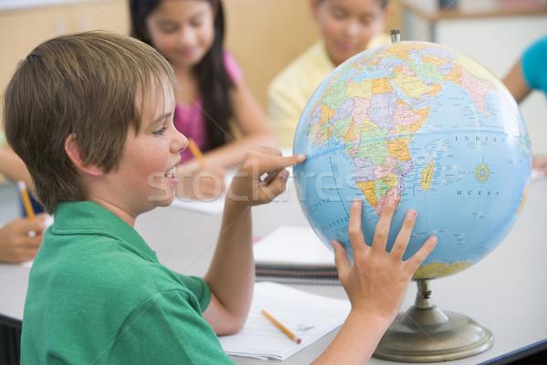 Elementary school geography class Stock photo © monkey_business