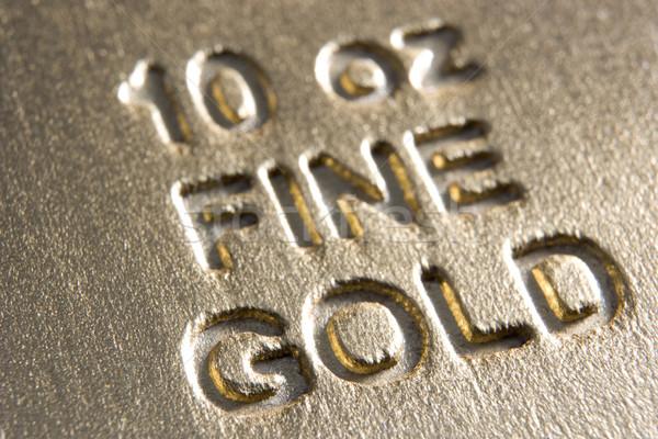 Közelkép aranyrúd ír pénzügy arany szín Stock fotó © monkey_business