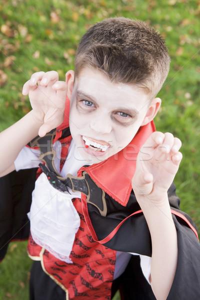 Photo stock: Extérieur · vampire · costume · halloween