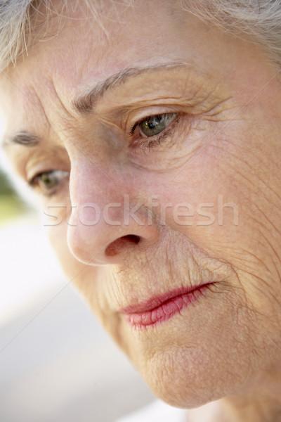 Stock photo: Portrait Of Senior Woman Looking Serious