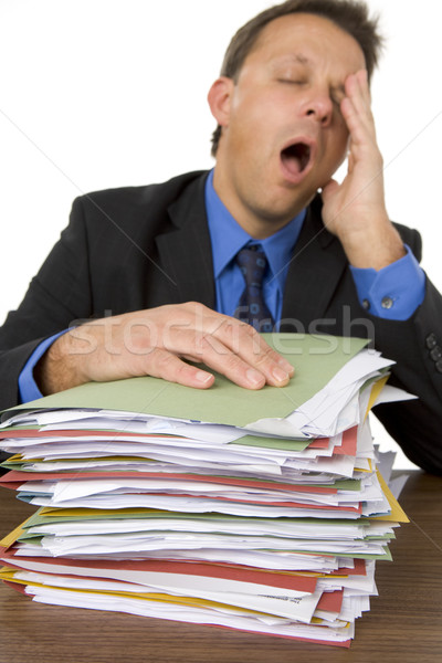 Businessman Overwhelmed By Paperwork Stock photo © monkey_business