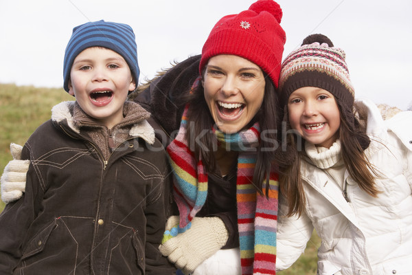 Mother And Her Children Smiling Stock photo © monkey_business