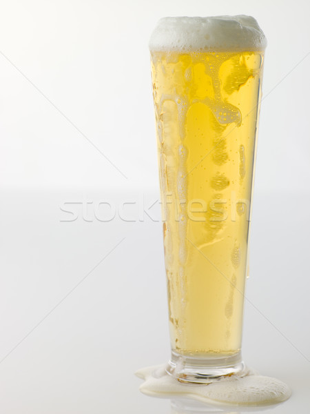 Glass Of Frothy Beer Stock photo © monkey_business