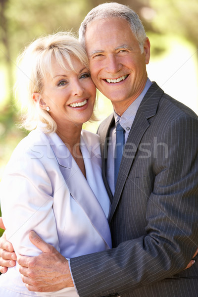 Portrait Of Senior Bridal Couple Outdoors Stock photo © monkey_business