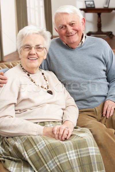 Portrait Of Happy Senior Couple At Home Stock photo © monkey_business