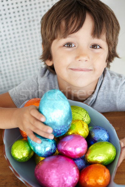 Child with Easter eggs Stock photo © monkey_business