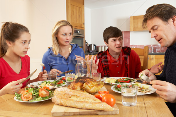 Familie argument eten lunch samen Stockfoto © monkey_business