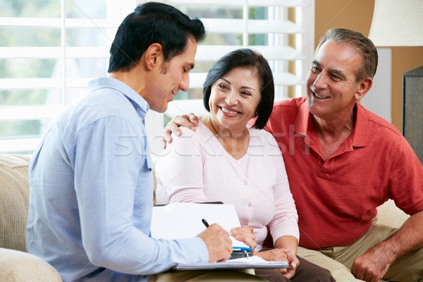 Financial Advisor Talking To Senior Couple At Home Stock photo © monkey_business