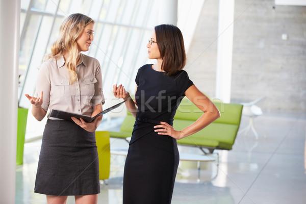 Two Businesswomen Having Informal Meeting In Modern Office Stock photo © monkey_business