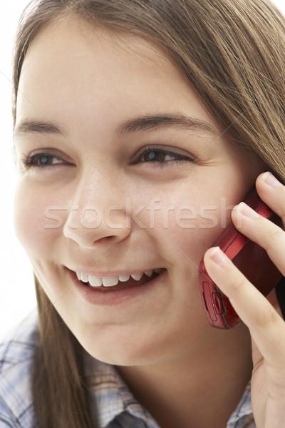Joven hablar teléfono móvil nina teléfono adolescente Foto stock © monkey_business