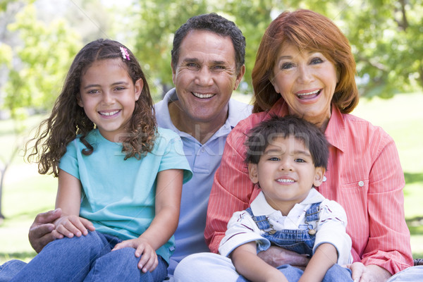 Grandparents posing with grandchildren Stock photo © monkey_business