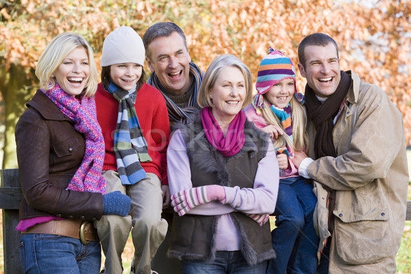 Multi-generation family on autumn walk Stock photo © monkey_business