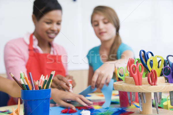Elementary school art class Stock photo © monkey_business