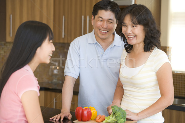 Familie lachend meisje man kleur asian Stockfoto © monkey_business