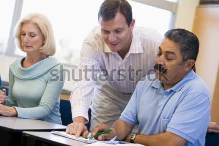 A Middle Eastern couple with their adult son Stock photo © monkey_business