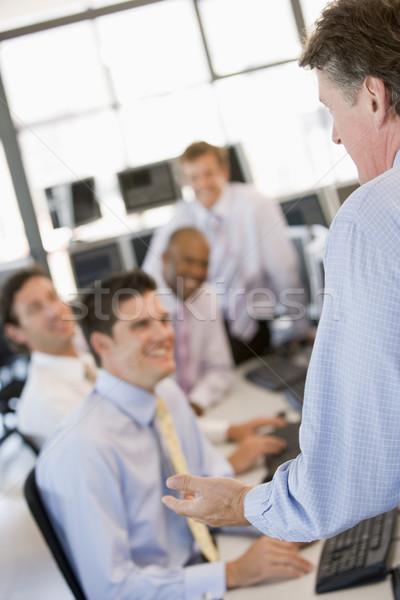 Stock lavoro business felice imprenditore uomini Foto d'archivio © monkey_business
