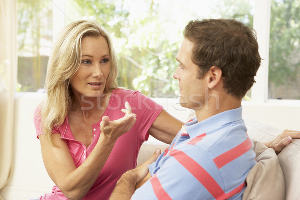 Couple Having Arguement At Home Stock photo © monkey_business