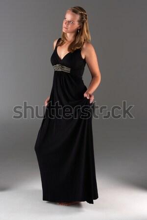 Fiatal nő estélyi ruha nő fiatal kaukázusi pózol Stock fotó © monkey_business
