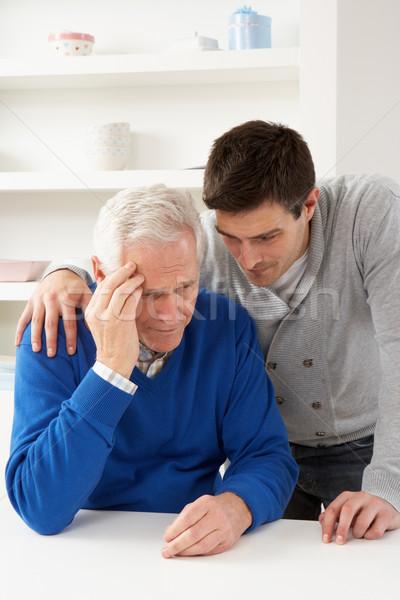 Gegroeid omhoog zoon senior ouder home Stockfoto © monkey_business