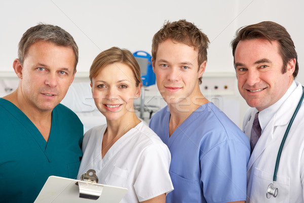 Portrait American medical team on hospital ward Stock photo © monkey_business