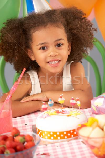 именинный торт вечеринка рождения фрукты торт Сток-фото © monkey_business