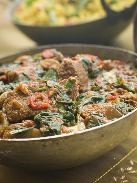 Сток-фото: блюдо · ягненка · растительное · мяса · интерьер · овощей