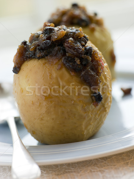 Baked Apples stuffed with Christmas Pudding Stock photo © monkey_business