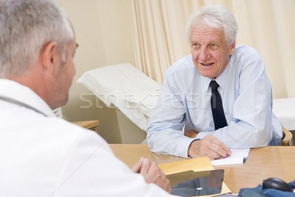 Mann lächelnd Arzt glücklich medizinischen Stock foto © monkey_business