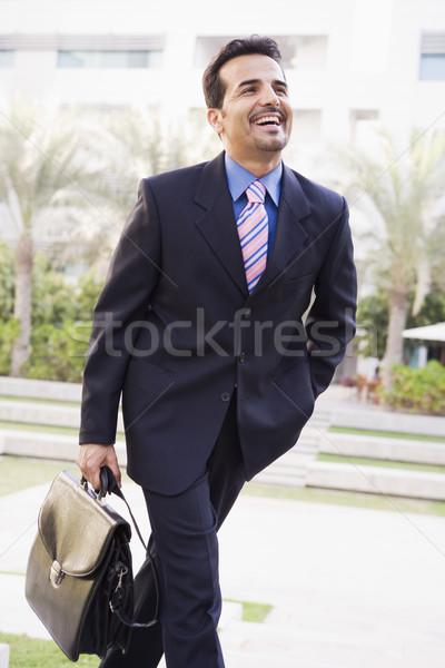 Сток-фото: бизнесмен · ходьбе · служба · портфель · человека