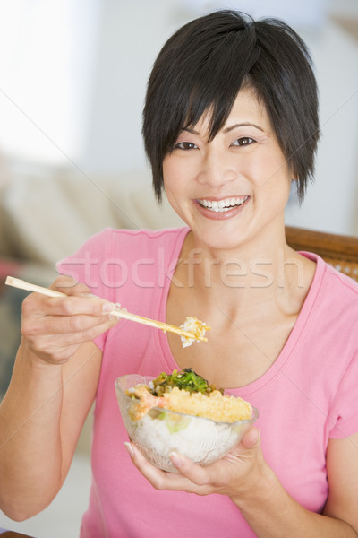 Women Eating meal,mealtime With Chopsticks Stock photo © monkey_business