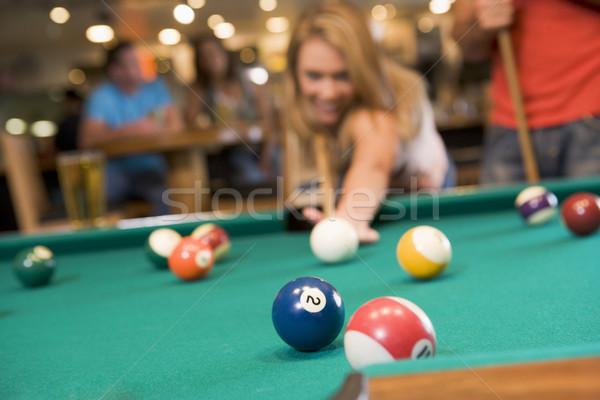 Giocare piscina bar focus biliardo Foto d'archivio © monkey_business