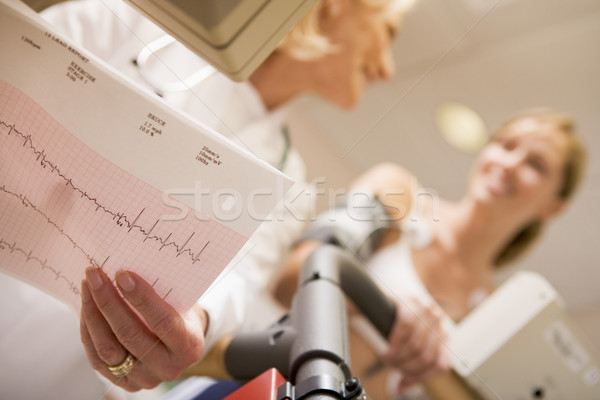 Doctor Monitoring The Heart-Rate Of Patient On A Treadmill Stock photo © monkey_business